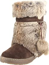 boots with fur and pom poms