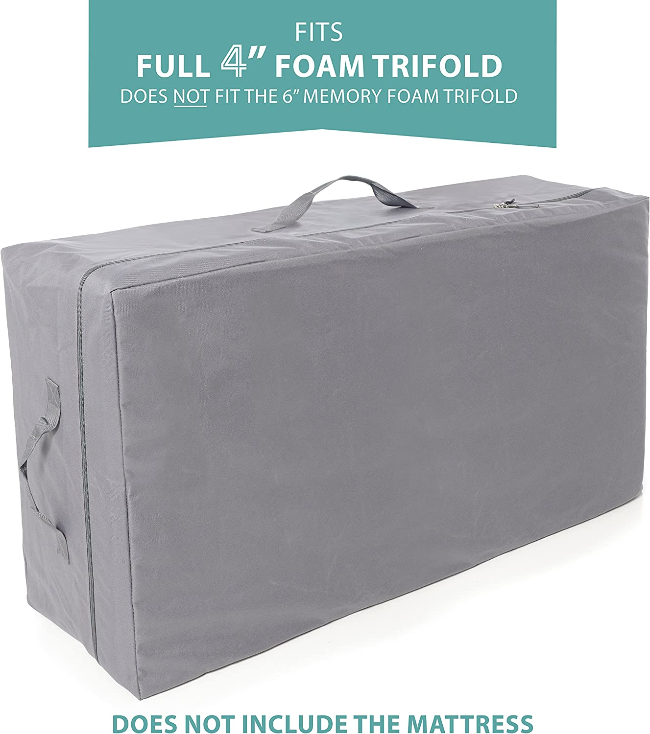 Carry Case Milliard Tri-Fold Mattress   4& 34; Full   Does NOT FIT 6& 34;