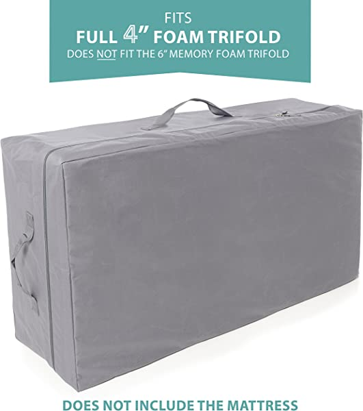 Carry Case For Milliard 4 Inch Full Tri Fold Mattress Does Not Fit 6 Inch