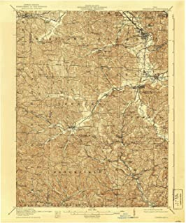 YellowMaps Cumberland OH topo map, 1:62500 Scale, 15 X 15 Minute, Historical, 1911, Updated 1939, 19.8 x 16.5 in