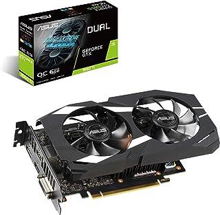 ASUS GeForce GTX 1660 Ti 6GB Dual-fan Overclocked Edition VR Ready Dual HDMI DP 1.4 Gaming Graphics Card (Dual-GTX1660TI-O6G)