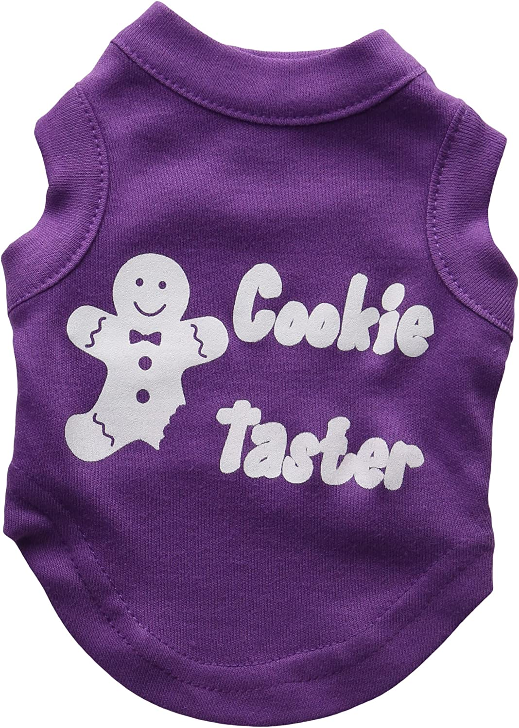 Mirage Pet Products 8Inch Cookie Taster Screen Print Shirts for Pets, XSmall, Purple