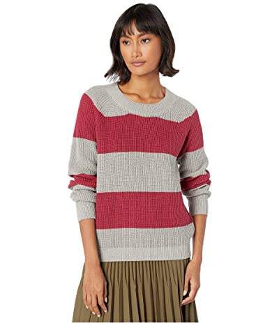 BCBGeneration Stripe Sweater FOH5254929 (Heather Grey Combo) Women