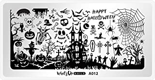 Whats Up Nails - A012 Happy Halloween Stamping Plate for Nail Art Design