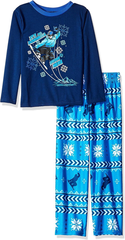 Komar Kids Boys' Big 2 Piece Soft Knit Flannel Pajama Set