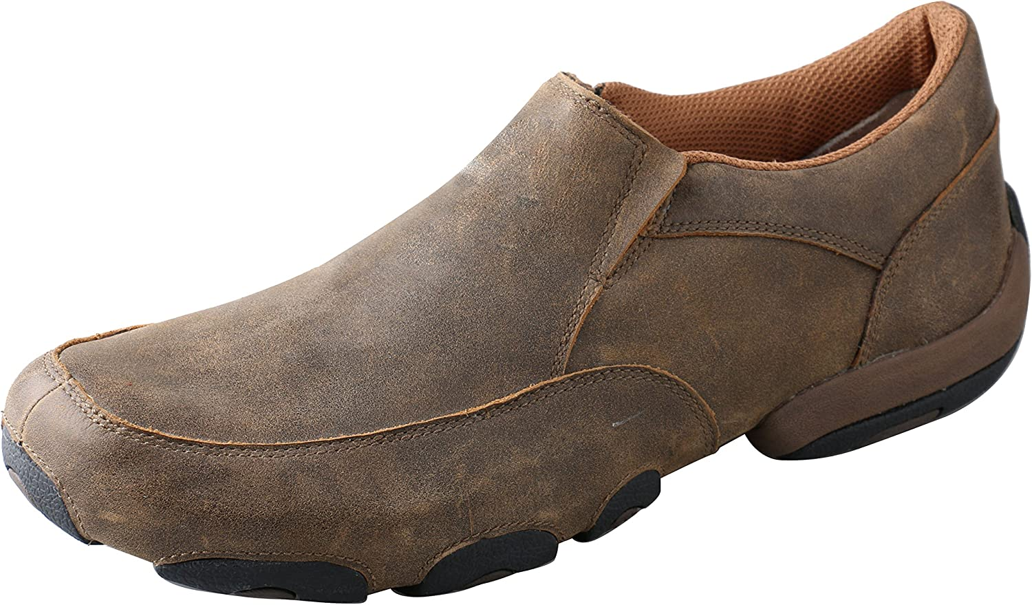 Twisted X Men's Slip-On Driving Moccasins Bomber Bomber - Casual Walking Leather Footwear