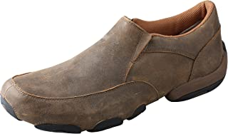 Twisted X Men's Driving Slip-On Moccasin Shoes Round Toe Brown