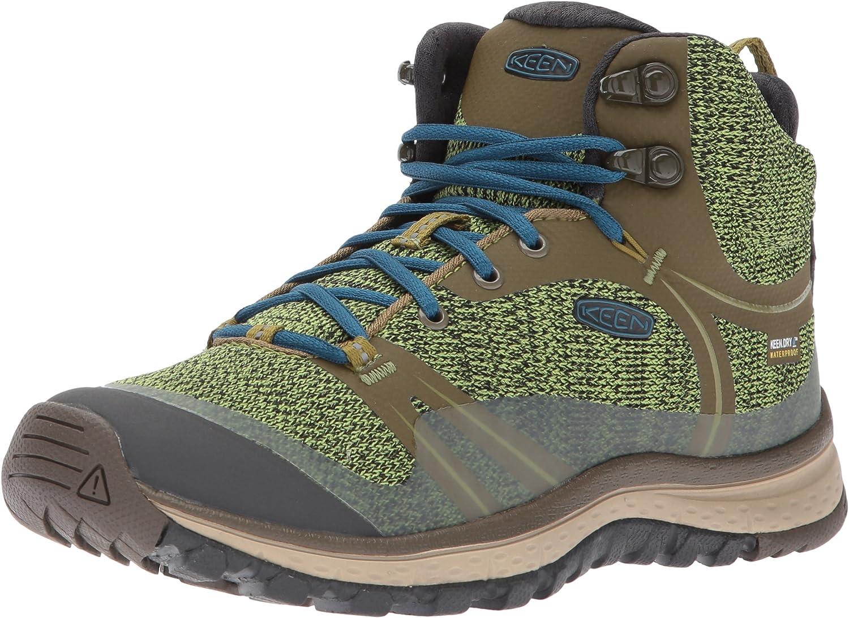 KEEN Woherrar Woherrar Woherrar Terradora Mid Wp -w Hiking skor, Dark Olive  blå Coral, 5 M USA  snabb leverans och fri frakt på alla beställningar