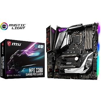 MSI MPG Z390 Gaming PRO Carbon LGA1151 (Intel 8th and 9th Gen) M.2 USB 3.1 Gen 2 DDR4 HDMI DP SLI CFX ATX Z390 Gaming Motherboard