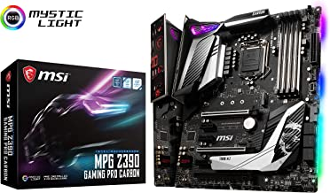 MSI MPG Z390 Gaming PRO Carbon LGA1151 (Intel 8th and 9th Gen) M.2 USB 3.1 Gen 2 DDR4 HDMI DP SLI CFX ATX Z390 Gaming Motherboard