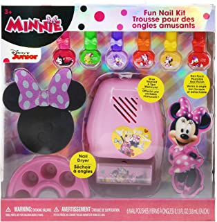 TownleyGirl Disney Minnie Mouse Super Fun Nail Set with 6 Nail Polishes, Dryer and Finger Soaker