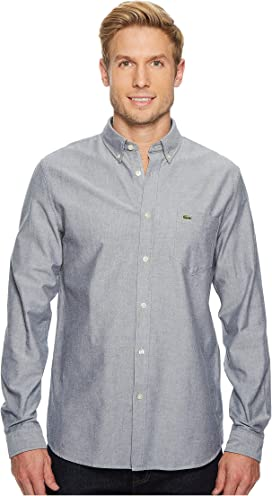 f6122cd3c Lacoste Short Sleeve Oxford Button Down Collar Regular at Zappos.com