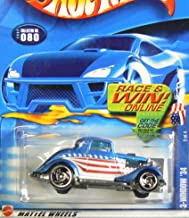 Hot Wheels Star Spangled Series #2 3-Window '34 Ford #2002-80 Collectible Collector Car Mattel