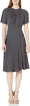 Dear Drew by Drew Barrymore Womens DDMJPV9002 Elizabeth Street Short Sleeve Pleated Dress Short-Sleeve Dress