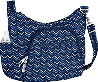 Travelon Anti-Theft Cross-Body Bucket Bag (A V STRIPE)