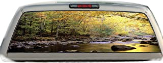 Mountain Stream- 17 Inches-by-56 Inches- Compact Pickup Truck- Rear Window Graphics