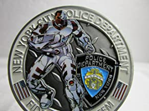 NYPD New York Police Department Cyborg Victor Stone Challenge Coin #4588