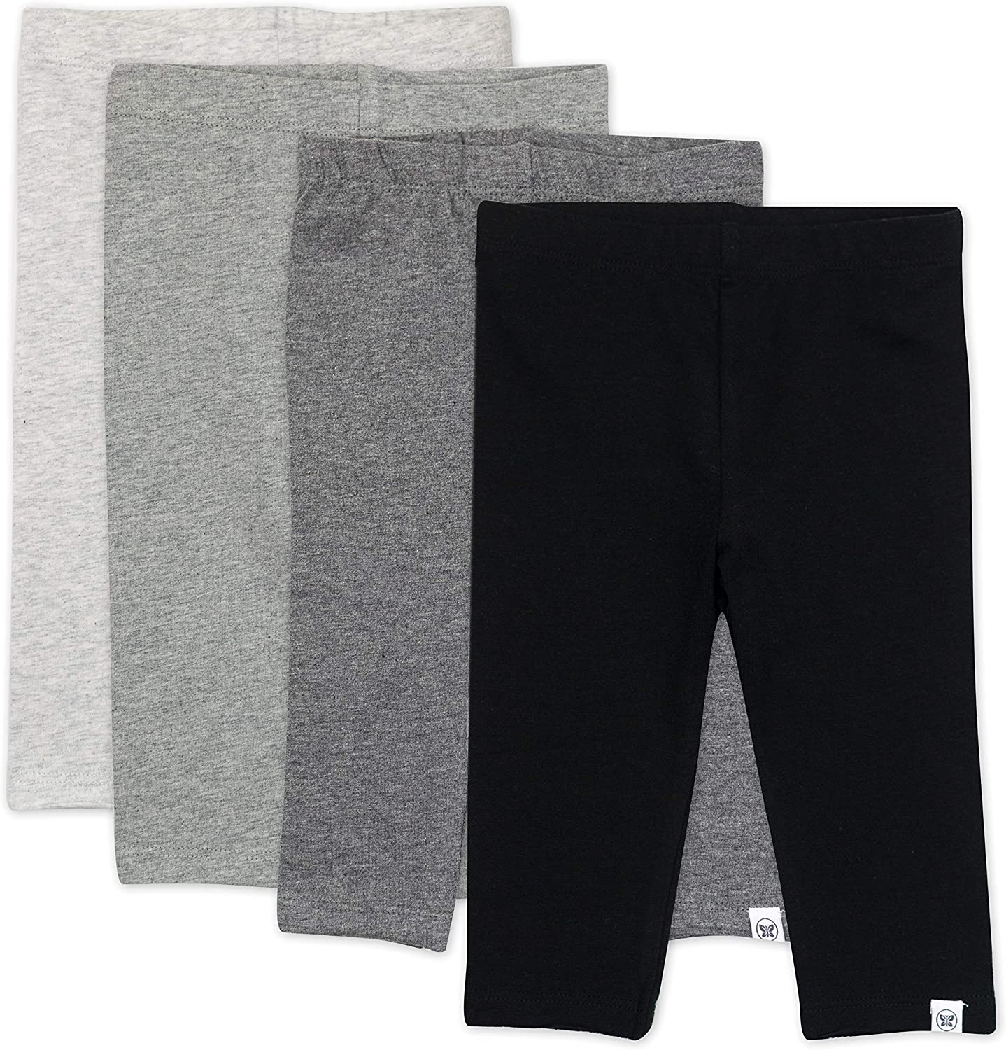 55% Easy-to-use OFF HonestBaby unisex-child 4-pack Leggings Cotton Organic