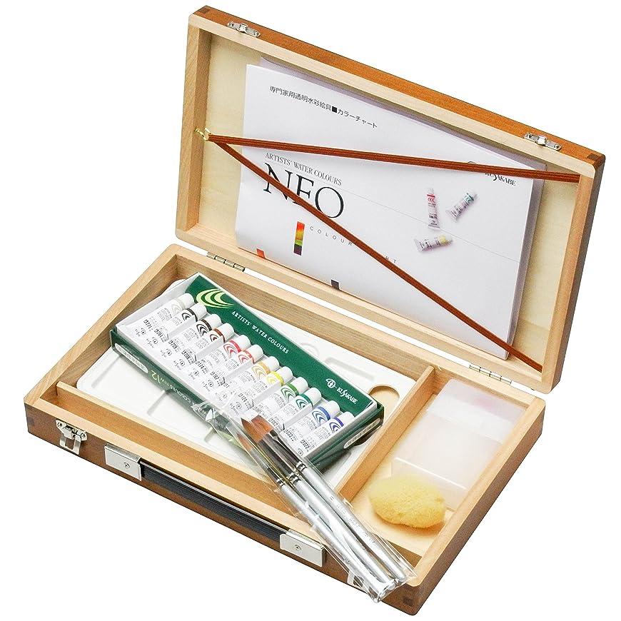 設計図出費ツインクサカベ 水彩画箱セットプラ 12色ブラウン 5ml(2号)