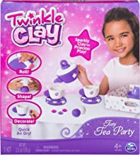 Twinkle Clay - Tiny Tea Party Sparkly Air-Dry Clay Activity Kit, for Ages 4 and Up