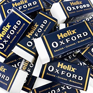 Helix Oxford Extra Small Sleeve Erasers - White - PVC Free - Pack of 6 - Buy 1 Get 1 Free
