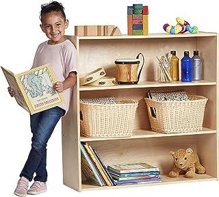 "ECR4Kids Birch Streamline Storage Cabinet - Hardwood Classroom & Home Storage Solution for Kids - 3-Shelf with Back, 36"" H"