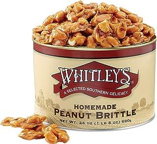 Whitley's Homemade Peanut Brittle 24 Ounce Tin