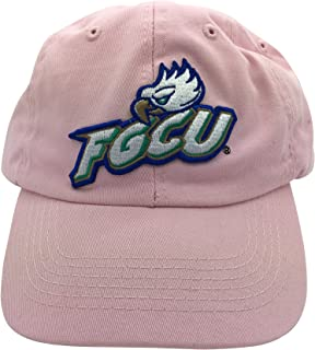 Tailgate Heritage FGCU Florida Gulf Coast University Eagles Pink Hat Cap with Leather Strap
