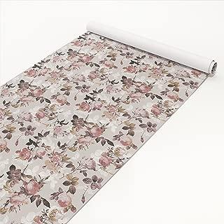 Apalis Klebefolie - Vintage Blumen-Muster mit Rosen - Selbstklebende Folie 50 x 50 cm