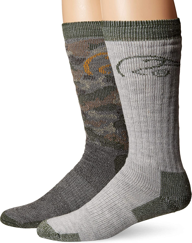 Ducks Unlimited Full Cushion Camo Wool Blend Socks, 2 Pair