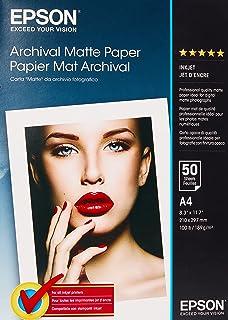 Epson Archival Matte Paper, A4, 210 x 297mm, 189 g/m2, 50 Sheets