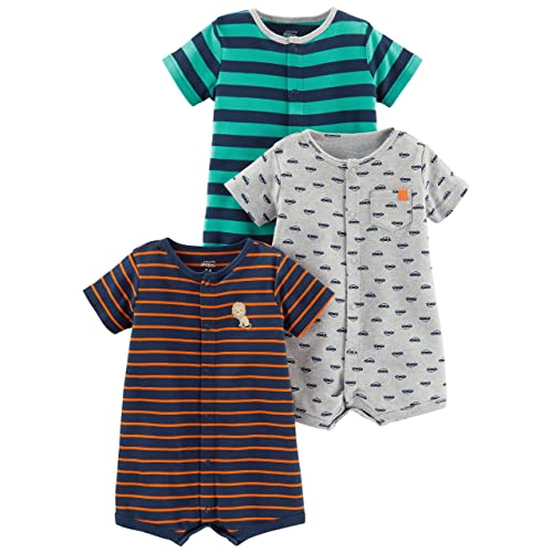 9e3e4644c74 Simple Joys by Carter s Baby Boys  3-Pack Snap-up Rompers