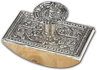 Wood & Metal Rocking Ink Blotter Pewter (Silver) N2501SI