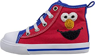 Sesame Street Elmo Shoes, Hi Top Sneaker with Laces, for Toddlers and Kids, Size 6 to 12