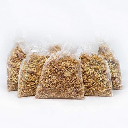 Wahdawn Chips de Afeitado hogar antipolillas de Cedro Fragancia Rojo bolsitas para cajones y armarios/ /10/Unidades