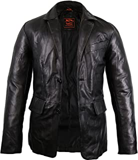 MDM Men's leather jacket made of genuine lambskin leather / slim fit