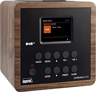 Imperial 22 270 00 d10 DAB+ und UKW Radiowecker (6,1cm TFT Farbdisplay, Snooze Funktion, SleepTimer, Line Out, Netzteil) holzoptik