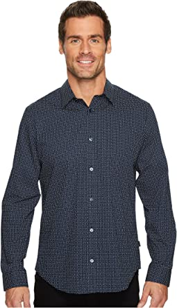 Calvin Klein - Printed Off Grid Button Down Shirt