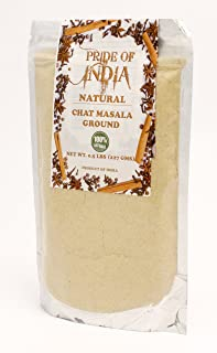 Pride Of India - Tangy Chat Masala Seasoning - Traditional Delhi Style, 8oz (227gm)