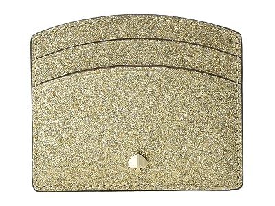 Kate Spade New York Burgess Court Card Holder (Pale Gold) Credit card Wallet