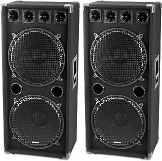 McGrey DJ-2522 pareja de altavoces para DJ o sala de fiesta 2 x 1500W