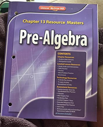 Glencoe Pre Algebra Chapter 13 Resource Masters