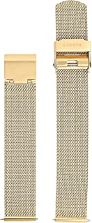 Skagen Women's 16mm Stainless Steel Mesh Watch Strap, Color: Gold-tone (Model: SKB2053)