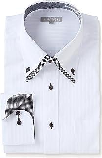 [ドレスコード101] 形態安定 ワイシャツ 豊富なサイズでピッタリが見つかる 長袖 メンズ ビジネス ボタンダウン ワイドカラー Yシャツ SHIRT-Z0