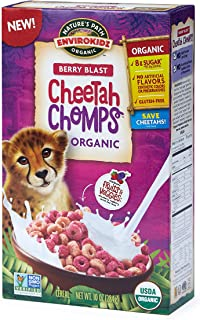 Nature's Path EnviroKidz Cheetah Chomps Cereal, Healthy, Organic, Gluten-Free, 11.5 Ounce Box (Pack of 12)