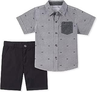 Calvin Klein Baby Boys' 2 Pieces Shirt Shorts Set