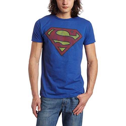 cbc1ddba888 DC Comics Superman Shield Logo Symbol Men s Blue T-Shirt Tee Shirt