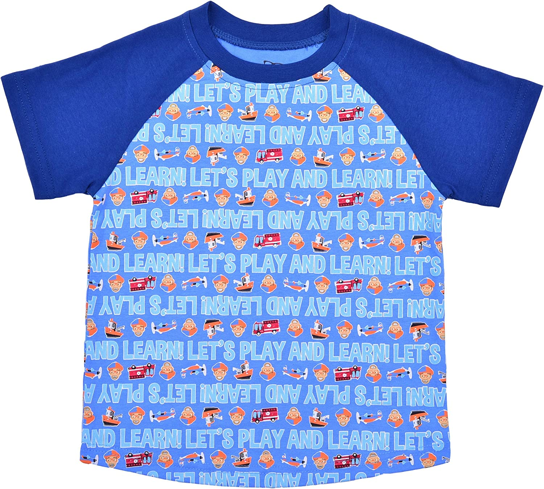 Children's Apparel Network Kideo Boy's 3-Piece Blippi Crewneck and Raglan Tee Shirt Set