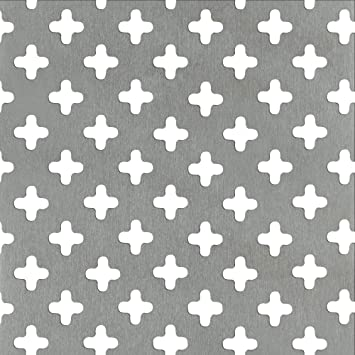 GAH-Alberts 464257 Lochblech natur runde Lochung Aluminium 300 x 1000 x 0,8 mm