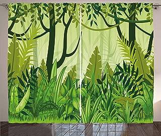 Best jungle leaf curtains Reviews
